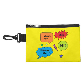 """""""Comic Quotes"""" Clip On Bag"""