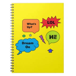 Comic Quotes Notebook Note Books