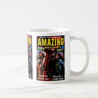 Cómic retro asombroso de las aventuras #2 Sci Fi Taza De Café