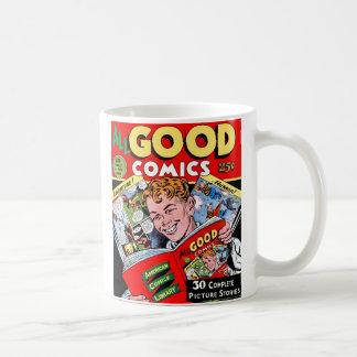 Cómic retro del kitsch del vintage todos los taza de café