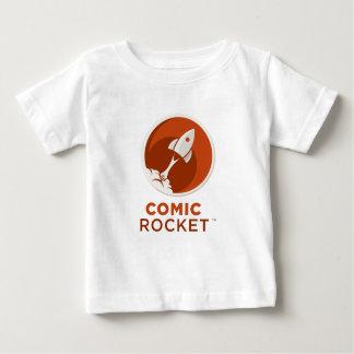 Comic Rocket Logo- Light Round Baby T-Shirt