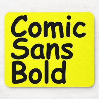 comic sans bold mouse pad