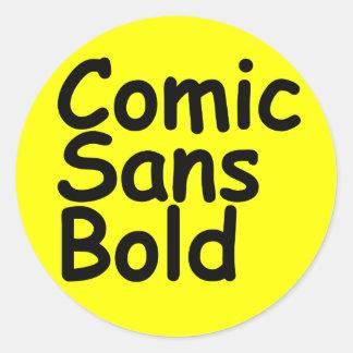 comic sans bold sticker