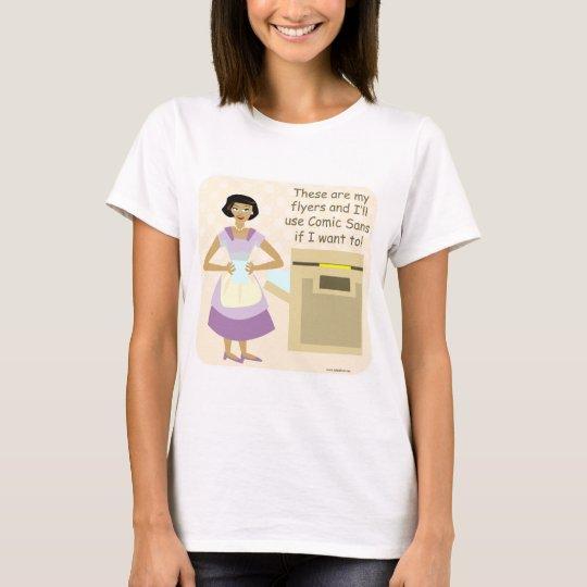 Comic Sans Goddess T-Shirt