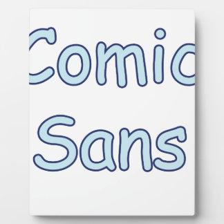 comic sans photo plaque