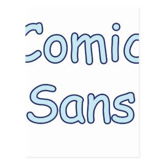 comic sans postcard