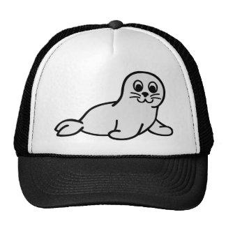 Comic seal baby mesh hat