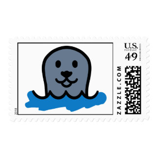 Comic seal head stamps