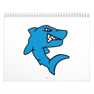 Comic shark calendar