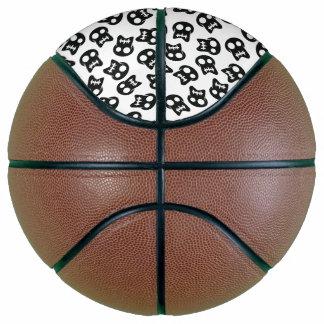 Comic Skull black pattern Basketball