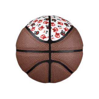Comic Skull colorful pattern Basketball