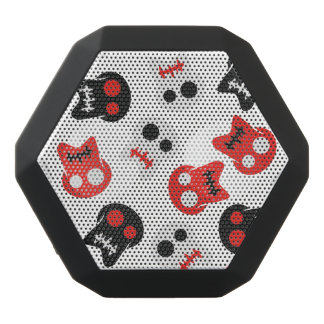 Comic Skull colorful pattern Black Bluetooth Speaker