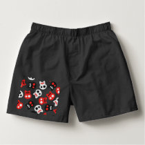 Comic Skull colorful pattern Boxers