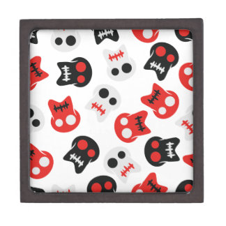 Comic Skull colorful pattern Gift Box