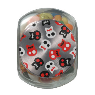 Comic Skull colorful pattern Jelly Belly Candy Jars