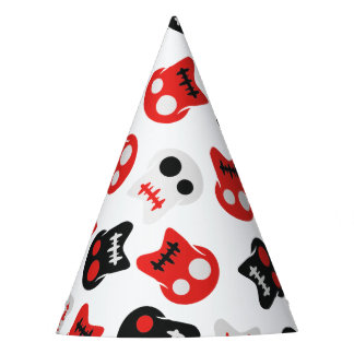 Comic Skull colorful pattern Party Hat