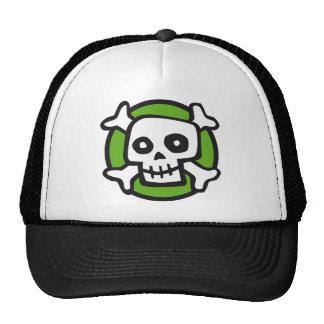 comic skull trucker hat