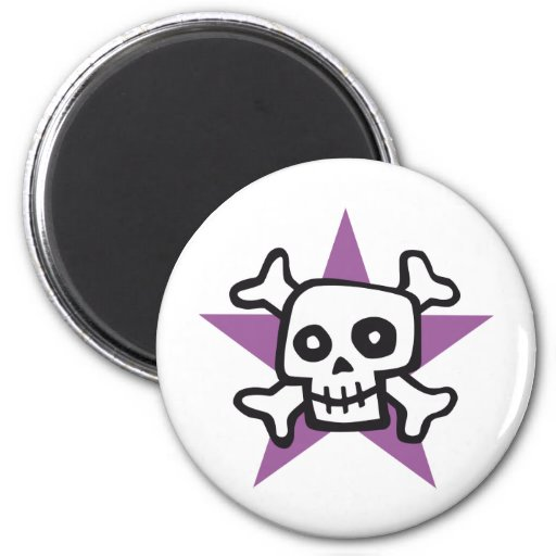 comic skull imán redondo 5 cm