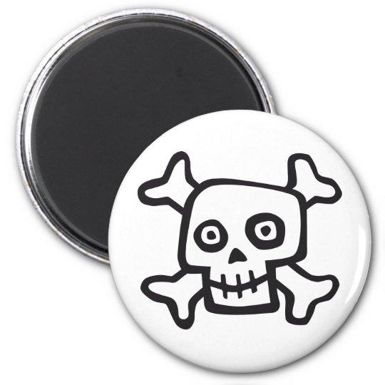 comic skull magnet