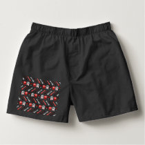Comic Skull with bones colorful pattern Boxers