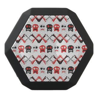 Comic Skull with crossed bones colorful pattern Black Bluetooth Speaker