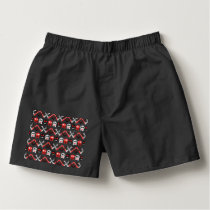 Comic Skull with crossed bones colorful pattern Boxers