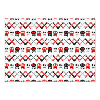 Comic Skull with crossed bones colorful pattern Card