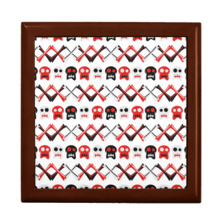 Comic Skull with crossed bones colorful pattern Gift Box