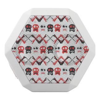 Comic Skull with crossed bones colorful pattern White Bluetooth Speaker