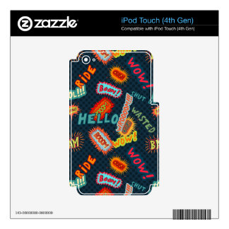 Comic sound effects pattern iPod touch 4G decal