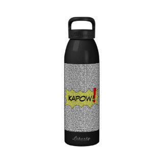 Comic Speak Super Beverage Bottle Drinking Bottles