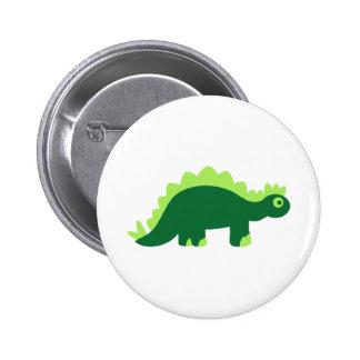 Comic stegosaurus 2 inch round button