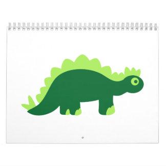 Comic stegosaurus calendar