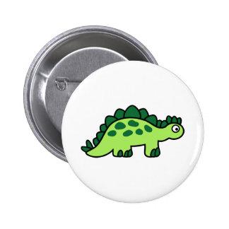 Comic Stegosaurus dinosaur 2 Inch Round Button