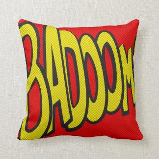 Comic-strip cushion – badoom! throw pillow