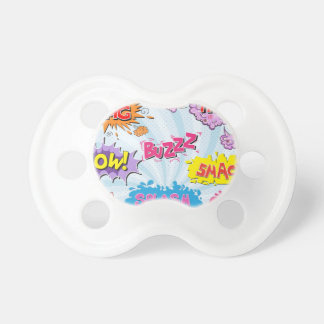 Comic Style Girly Super Hero Design Pacifier