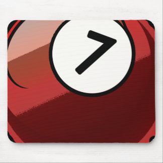 Comic Style Number 7 Billiards Ball Mouse Pad