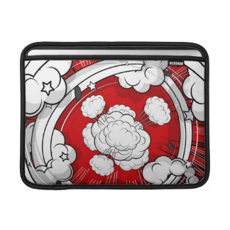 Comic Style Red Fight Clouds MacBook Sleeves