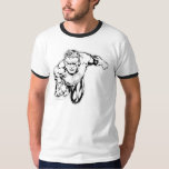 Comic Style - Ring in front, Black and White Shirt