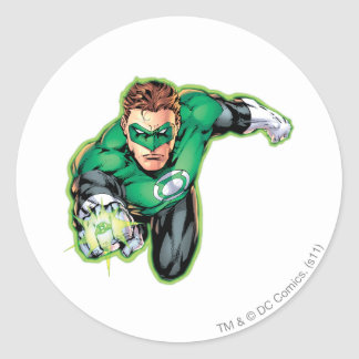 Comic Style - Ring in front Classic Round Sticker