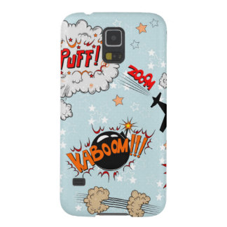 Comic Style Super Hero Design Galaxy S5 Cover