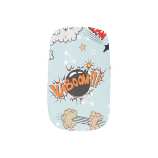 Comic Style Super Hero Design Minx Nail Wraps