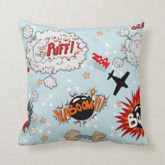 Comic Style Super Hero Design Pillow