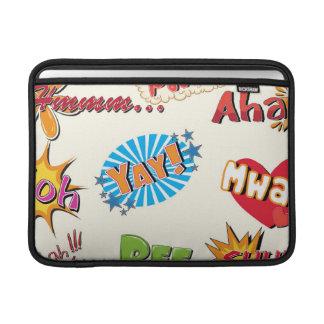 Comic Style Super Hero Girly Design MacBook Sleeves