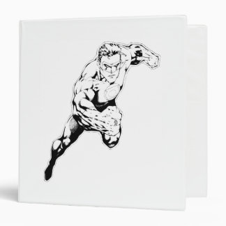 Comic Style - Swift Jump, Black and White 3 Ring Binder