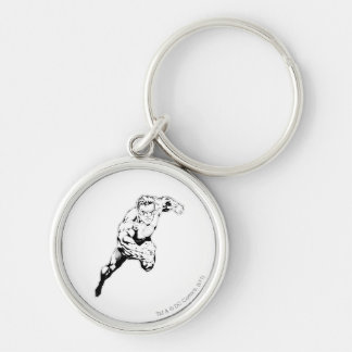 Comic Style - Swift Jump, Black and White Keychain