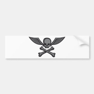 comic style wing skull autosticker