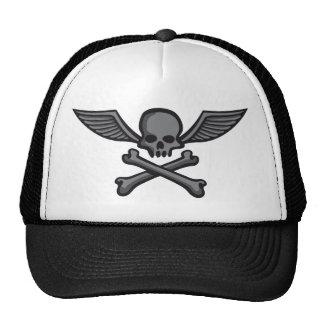 comic styles wing skull trucker hat