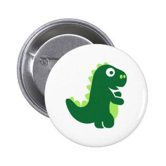 Comic T-Rex Pinback Button