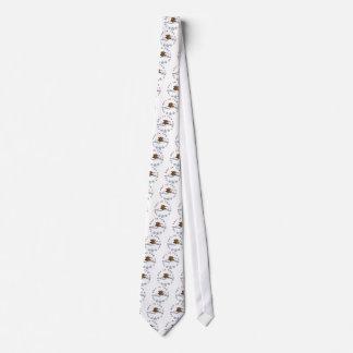 comic teddy bear on PAPER flat Tie